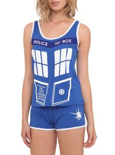Doctor Who TARDIS Pajamas ~these are actually super cute. want. @Jamie Wise Wise Moore i totally need new pajamas right