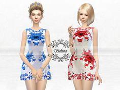 Floral Sleeveless Dress by SakuraPhan at TSR