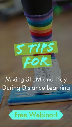 What does it look like to mix STEM and play during distance learning? This month I'll tackle this question in a new, free STEM webinar. You'll hear five tips for making STEM concepts lively and engaging while students are learning at home. Students can work together as a group or at their own pace as they explore various virtual activities that mix STEM and active play. #STEM #EdTechForEducators #FreeResourcesforTeachers #EducationalBlog #FreeTeachingResources