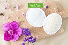Loofah pad for face, Nice Loofah, Mini Facial Discs Pads, Face Loofah Pads, Facial Face Buff Exfoliating Pad, Face Therapy Loofah Pad, Loofah Buff Pad Set of 2