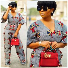 African Jumpsuit Wears Beautiful Elegant And Stylish Jumpsuit Collections. Jumpsuits,If Well Tailored,Can Be Adorn By All Categories Of Ladies Regardle. African Print Jumpsuit, African Print Dresses, African Fashion Dresses, African Attire, African Wear, African Women, African Dress, African Clothes, Ankara Fashion