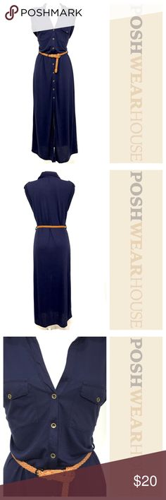 Midnight Blue Button Down Maxi Dress NWOT • Lightweight • Buttons down the front • Comes with belt • Length • Bust • Waist • Hips • Sized XL, fits a MEDIUM Dresses Maxi 50s Vintage, Vintage Dresses, Imelda May, Hip Ups, Fashion Design, Fashion Tips, Fashion Trends, Midnight Blue, Button Downs