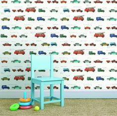 Praxis | Leuk voor een kinderkamer. Op dit behang staan allemaal autootjes. Boys Car Bedroom, Car Themed Bedrooms, Car Nursery, Bedroom Themes, Diy Bedroom Decor, Nursery Decor, Bedroom Ideas, Home Decor, Car Wall Art