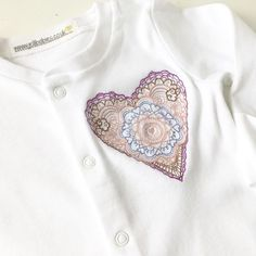 2f03bd99a Embroidered heart babygrow by Jellibabies.co.uk at jellibabies personalised  baby and children's clothes