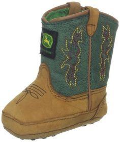 John Deere 318 Western Boot (Infant/Toddler),Tan Distressed/Green,4 M US Toddler John Deere http://www.amazon.com/dp/B00A77C6EO/ref=cm_sw_r_pi_dp_dW9Nvb0B6S1RV