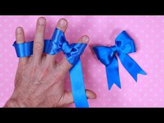 how to make simple easy bow/ ribbon hair bow tutorial / bow tutorial ribbon - YouTube
