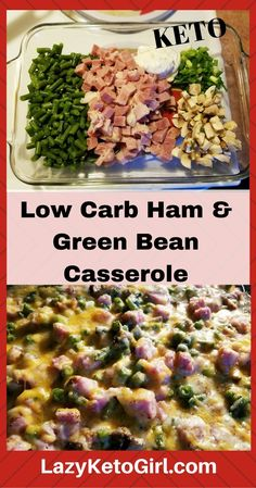 Keto and Low Carb Green Bean Casserole. Great for Thanksgiing, holidays or any day. Perfect for low carb lifestyle and keto diet.