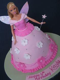 Blissfully Sweet: Fairy Barbie Birthday Cake