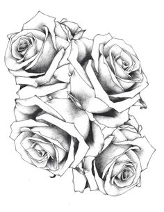 The two top roses with some leaves added on would make the coolest tattoo ever!