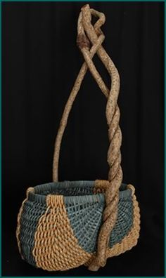 Reaching for the Sky basket style by master basket weaver Tina Puckett