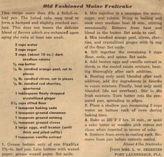 Retro Fruit Cake Recipe From Betty Crocker Research For