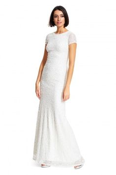 Still the show with this elegant full length gown. White sequins are perfect. Dress has a small smudge in the bottom but can be easily cleaned. Brand new! Dresses For Work, Formal Dresses, Wedding Dresses, Full Length Gowns, Beautiful Wedding Gowns, Sequin Dress, Bridal Collection, Bridal Gowns, White Dress