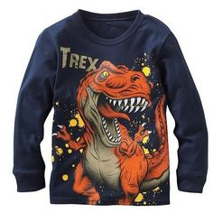 Promotions 2015 new cotton baby boys top long sleeve t shirt childrens kids blouse chothing full sleeve spring autumn Baby Boy Outfits, Kids Outfits, Baby Boy T Shirt, Kids Boys, Baby Boys, Costume, Boys T Shirts, T Rex, Types Of Sleeves