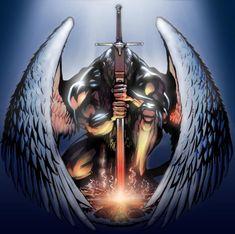 Angel by DavidHaney on DeviantArt Angel Warrior Tattoo, Guardian Angel Tattoo, Warrior Tattoos, Engel Krieger Tattoo, Dark Fantasy, Fantasy Art, Fantasy Sword, Body Art Tattoos, Sleeve Tattoos