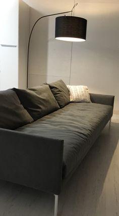 Sofa Adea band  Alcantara Grey