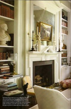 Veranda Furlow Gatewood-Frank-Babb-Randolph-decorate-with-white | amazing living room and fireplace mantel