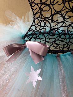 Running Tutu: Disney Frozen Inspired Princess Elsa Custom Pixie Length (9 inch) Tutu