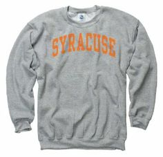 Syracuse Orange Grey Arch Crewneck Sweatshirt by New Agenda. $27.99. Machine washable and easy to wear. 50% Cotton and 50% Polyester. Officially licensed. When you want your Orange pride to speak volumes, try this Syracuse Orange Dark Heather Arch Crewneck Sweatshirt on for size. Brandishing a screenprint graphic of the team wordmark and their vibrant color scheme, this stylish shirt is a must-have for your Orange wardrobe collection.