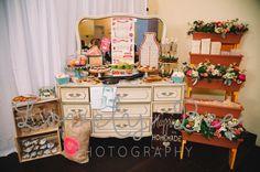 Josy's Bridal Shower  Venue- Peacock Garden Cafe Decor- Avant Gardens Rentals- Mi Vintage Sweet Treats- Ohh My Sweetness