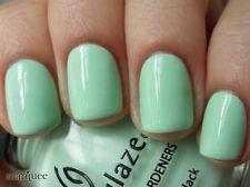 China Glaze Nail Polish Lacquer (80937-Re-Fresh Mint) Up & Away NEW LIGHT GREEN