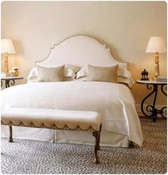 Headboard: Cool Design Tufted Headboard Shapes Upholstered Beds And Headboards Rose City Upholstery from Inspirational Design Ideas Tufted Headboard Shapes Serene Bedroom, Bedroom Retreat, White Bedroom, Beautiful Bedrooms, Master Bedroom, Bedroom Decor, White Headboard, Nailhead Headboard, Fabric Headboards