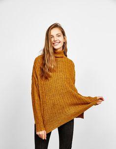 Bershka Ukraine - Ribbed roll neck sweater
