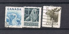 Canada: Wild Animals Stamps from old collection,  (love)