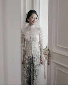 Wedding Reception Outfit For Bride Dress Styles Ideas Kebaya Muslim, Kebaya Hijab, Muslim Dress, Kebaya Wedding, Muslimah Wedding Dress, Muslim Wedding Dresses, Malay Wedding Dress, Kebaya Lace, Kebaya Dress