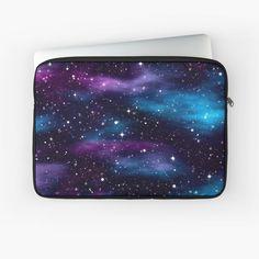 """Starry Sky Galaxy"" Laptop Sleeve by HavenDesign Galaxy Print, Macbook Air Pro, Sleeve Designs, Back To Black, Laptop Case, Iphone Wallet, Laptop Sleeves, Sky, Purple"