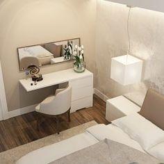 Дизайн проект спальни, прикроватная тумба, будуар
