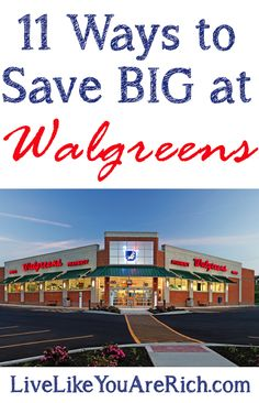 Well known and lesser known ways to save a ton at Walgreens!