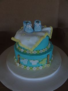 Baby Shower Cake by SugarArt Cakes by Kassie