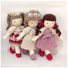 Instagram photo by @maria_sandoli (Maria Sandoli) | Iconosquare Crochet Amigurumi, Amigurumi Patterns, Amigurumi Doll, Doll Patterns, Knit Crochet, Crochet Patterns, Pet Toys, Doll Toys, Kids Toys