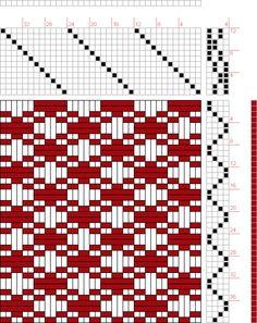draft image: 08094, 2500 Armature - Intreccio Per Tessuti Di Lana, Cotone, Rayon, Seta - Eugenio Poma, 4S, 12T