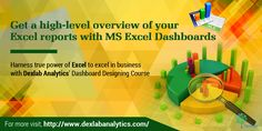 ‪#‎MSExcel‬ Dashboards allow viewers to get a detailed overview of an MS Excel report with annoyingly scrolling down through the whole report for obtaining a particular information.
