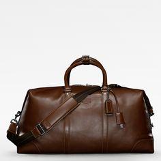 Coach Men's leather weekender