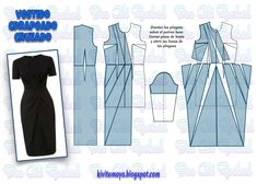 Easy Sewing Patterns, Coat Patterns, Doll Clothes Patterns, Clothing Patterns, Dress Patterns, Pattern Draping, Sewing Blouses, Dress Tutorials, Jacket Pattern
