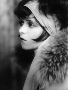 Clara Bow.  THE flapper of the 1920's. Starred in the famous silent movie It (1927)