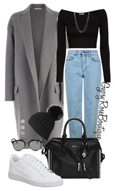 """""""#537"""" by gypsyroseboutique on Polyvore featuring CÉLINE, Topshop, Torn by Ronny Kobo, Alexander McQueen, Black, NIKE, Christian Dior, Forever 21 and David Yurman"""