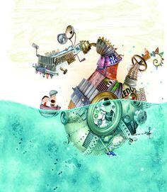 Hans Christian Andersen Awards – I Love Illustration Steampunk Artwork, Cartoon Stickers, Art Story, Love Illustration, Whimsical Art, Doodles, Creatures, Sketches, Drawings