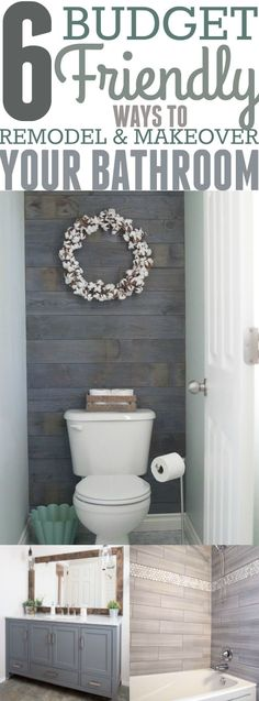 If you are tired of looking at your outdated bathroom, then now is the time to give your bathroom a makeover. Don't worry; giving your bathroom a makeover won't cost as much as you think. I searched the web and created a list of 6 budget friendly DIY projects that will completely revamp your bathroom. I found these projects from other bloggers that have completed and implemented the projects in their bathroom. I included links to the original source of each project underneath each ...