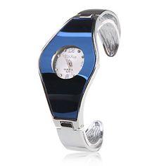 Damen+Modeuhr+Armbanduhr+Armband-Uhr+Quartz+Band+Armreif+Silber+Blau+–+EUR+€+5.75 Watches Online, Stainless Steel Bracelet, Cool Watches, Quartz, Bracelets, Unique, Stuff To Buy, Accessories, Bracelet Watch