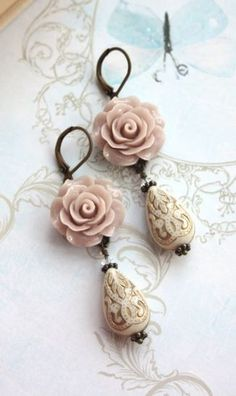 Adorable Earrings Looks Great with a Vintage Little Dress!