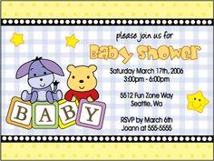 New Cute Baby Winnie the Pooh Invitation