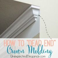 How to make a dead end with crown molding-1-10