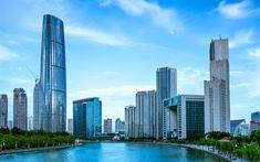 Descargar fondos de pantalla Tianjin, rascacielos, Tientsin, edificios modernos, Asia, China