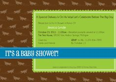 Vintage Airplane Shower Invitation