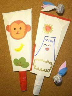 牛乳パックで作るのに、フニャフニャしない、しっかりした羽子板!身近にあるものだけで作れるのがうれしい♪お正月に作って遊んで楽しんじゃおう!
