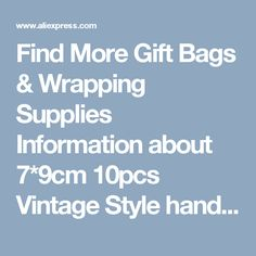 Find More Gift Bags & Wrapping Supplies Information about 7*9cm 10pcs Vintage Style handmade Jute Sacks Drawstring gift bags for jewelry/wedding/christmas Packaging Linen pouch Bags,High Quality gift bag packaging,China gift bags favors Suppliers, Cheap gift bags free shipping from Fashion MY life on Aliexpress.com