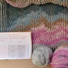 Перед началом вязания я составляю вот такую простенькую схему, на которую ориентируюсь в процессе.  #pattern##patternbrioche#briochestitch#briocheknitting#knitting#вязаниебриошь#вязаниеспицами